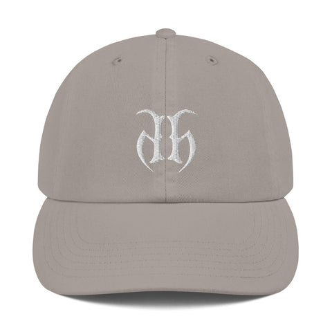 Hustle Harder + Champion (White) Dad Hat