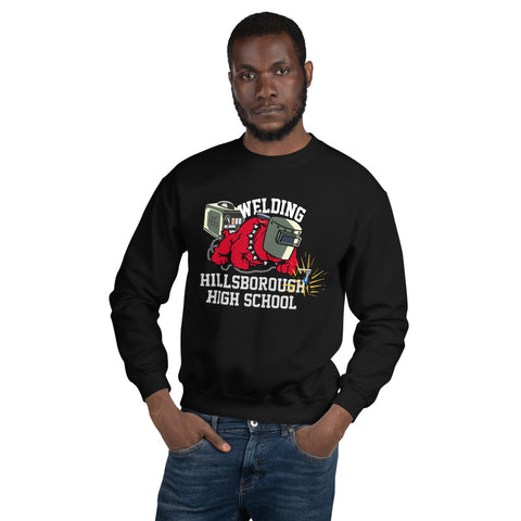 HHS Welding Red Black Unisex Sweatshirt