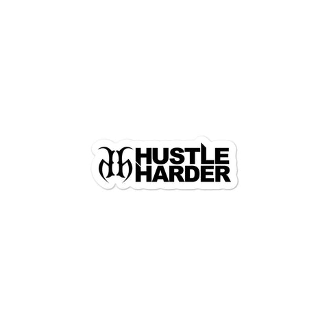 Hustle Harder Edge Bubble Free Stickers