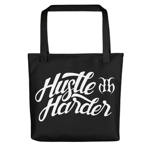 Hustle Harder Autograph (White) Tote Bag