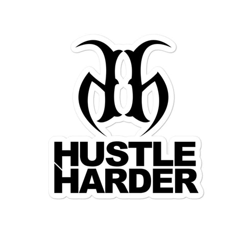 Hustle Harder Edge Trim Bubble Free Stickers