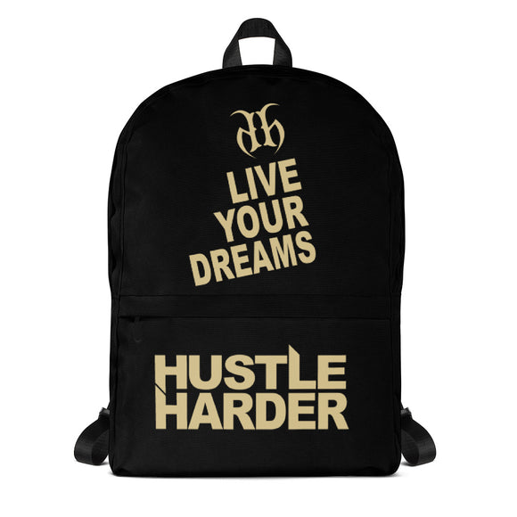 Live Your Dreams (Gold) Backpack