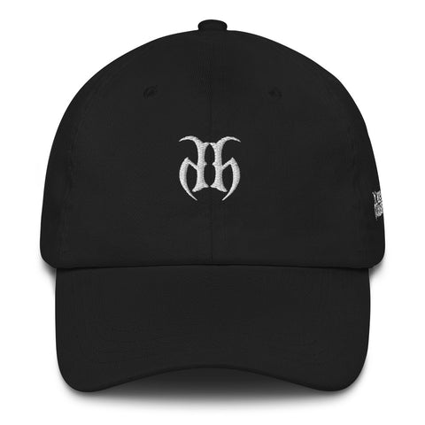 Hustle Harder Dad hats white stitching