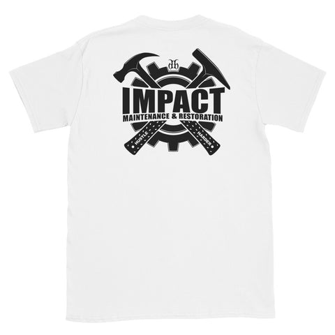 Impact Maintenance (Black) Back Print Unisex T-Shirt