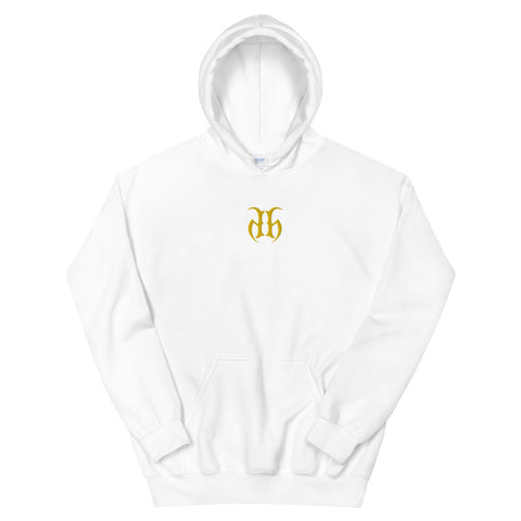Hustle Harder Center Chest Embroidered Logo (Yellow) Unisex Hoodie