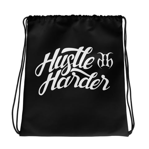 Hustle Harder Autograph Drawstring Bag