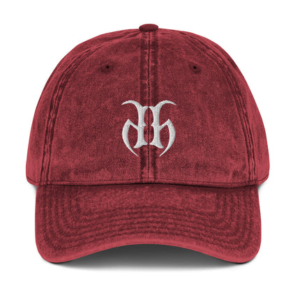 Hustle Harder (White) Vintage Cotton Twill Hat