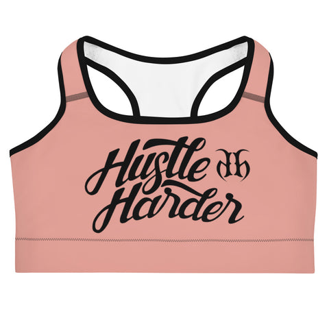 Hustle Harder Autograph (Black) Sports Bra