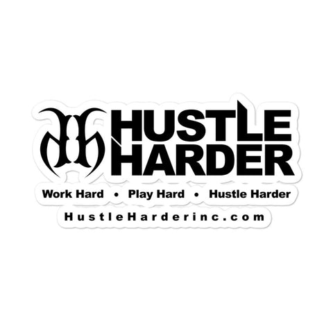 Hustle Harder Banner Bubble Free Stickers