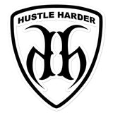Hustle Harder Soccer Bubble Free Stickers