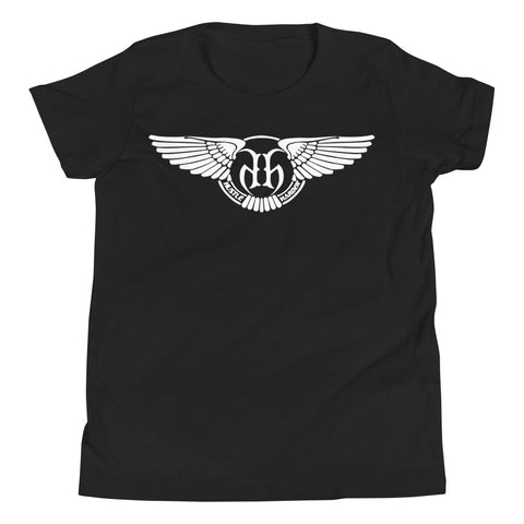 Hustle Harder Wings Youth Short Sleeve T-Shirt