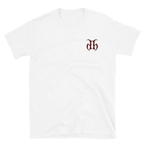 Hustle Harder Embroidered Logo T-Shirt (Maroon)