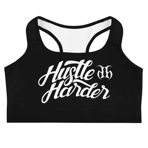 Hustle Harder Autograph (White) Sports Bra
