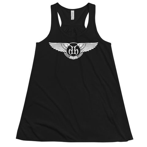 Hustle Harder Wings Flowy Racerback Tank