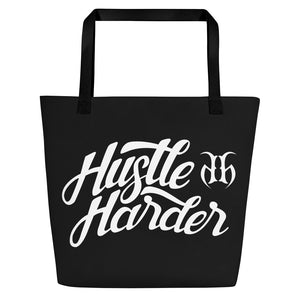 Hustle Harder Autograph (White) Beach Bag