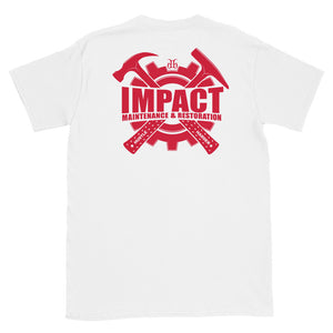 Impact Maintenance (Red) Back Print Unisex T-Shirt