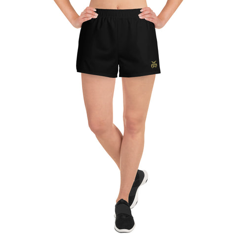 Hustle Harder (Gold) Women's Athletic Shorts
