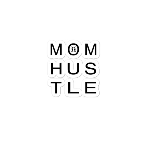 Mom Hustle Bubble Free Stickers