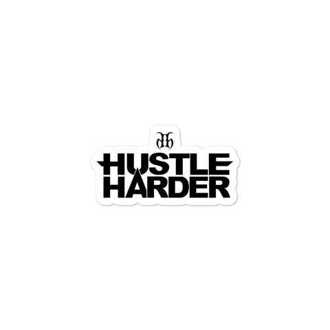 Hustle Harder Bubble-Free Stickers