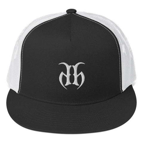Hustle Harder (White) 5 Panel Trucker Hat