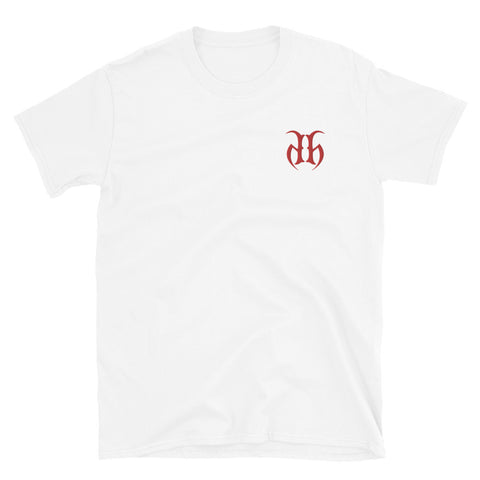 Hustle Harder Embroidered Logo T-Shirt (Red)