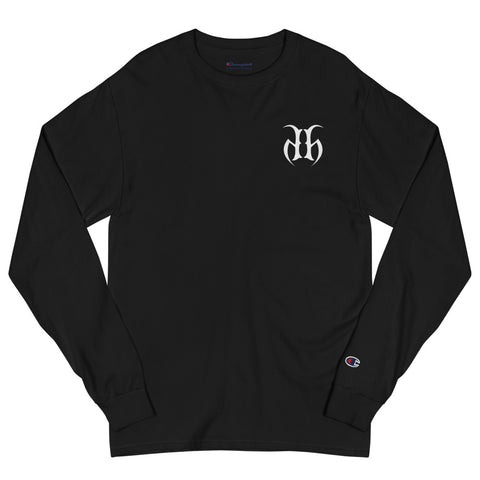 Hustle Harder + Champion Embroidered Long Sleeve