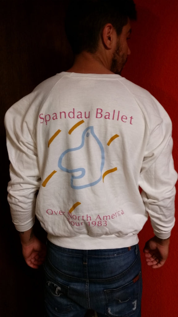 Vintage 80s Spandau Ballet Band Concert Sweatshirt Dead stock Vintage  Sweatshirt New Wave music