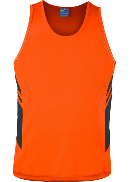 Tasman men's Hi Viz singlet - Workwear Warehouse