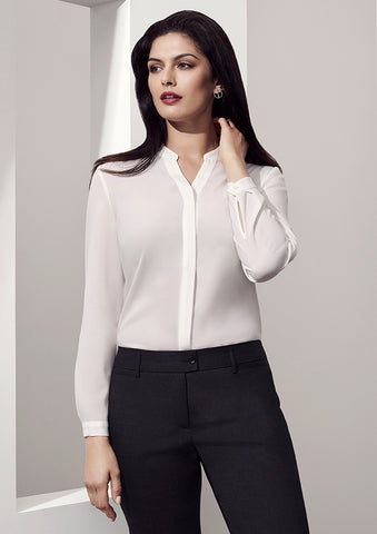 BC Juliette Plain long Sleeve Blouse - Workwear Warehouse