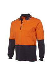 JBs Hi Vis L/S Cotton Polo - Workwear Warehouse