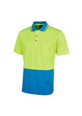 JBs Men's Hi Vis Non Cuff Traditional Polo (Bright Colours) - Workwear Warehouse