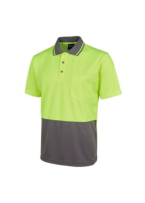 JBs Men's Hi Vis Non Cuff Traditional Polo (Dark Colours) - Workwear Warehouse