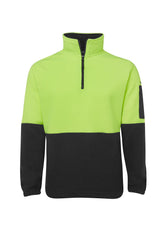 JB'S Hi Vis 1/2 Zip Polar - Workwear Warehouse