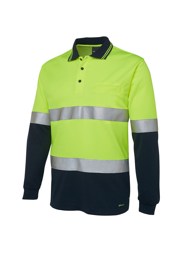 JB'S Hi Vis (D+N) Long Sleeved Traditional Polo - Workwear Warehouse