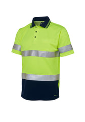 JB'S Hi Vis (D+N) Short Sleeve Traditional Polo - Workwear Warehouse