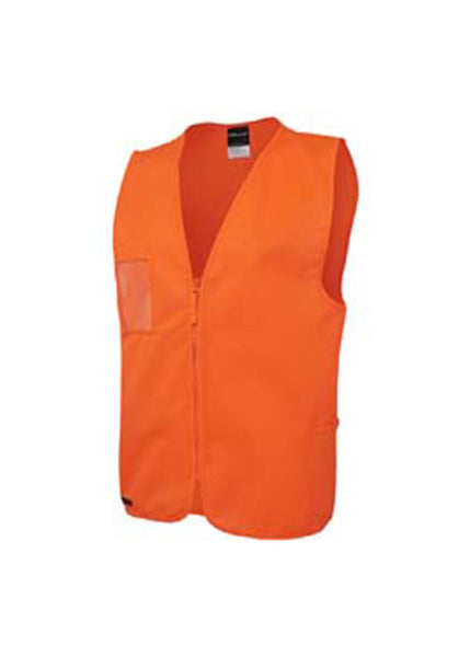 JBs Hi Vis Zip Safety Vest - Workwear Warehouse