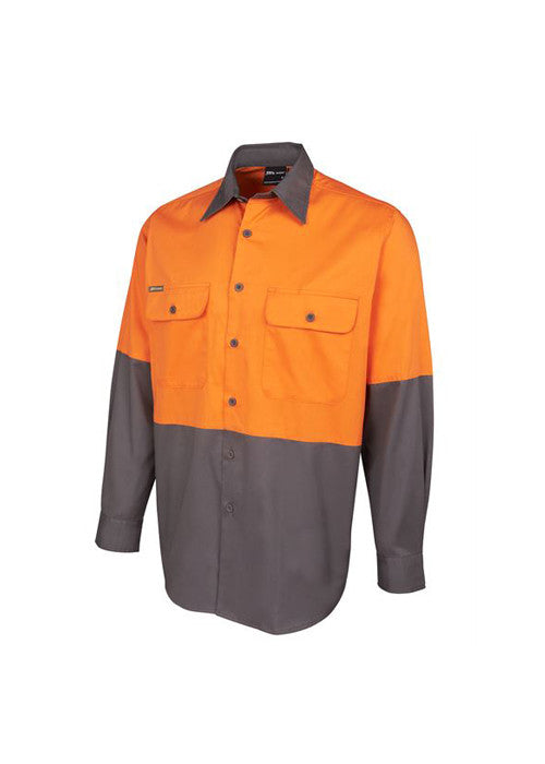 JBs Hi Vis L/S 150g Shirt - Workwear Warehouse