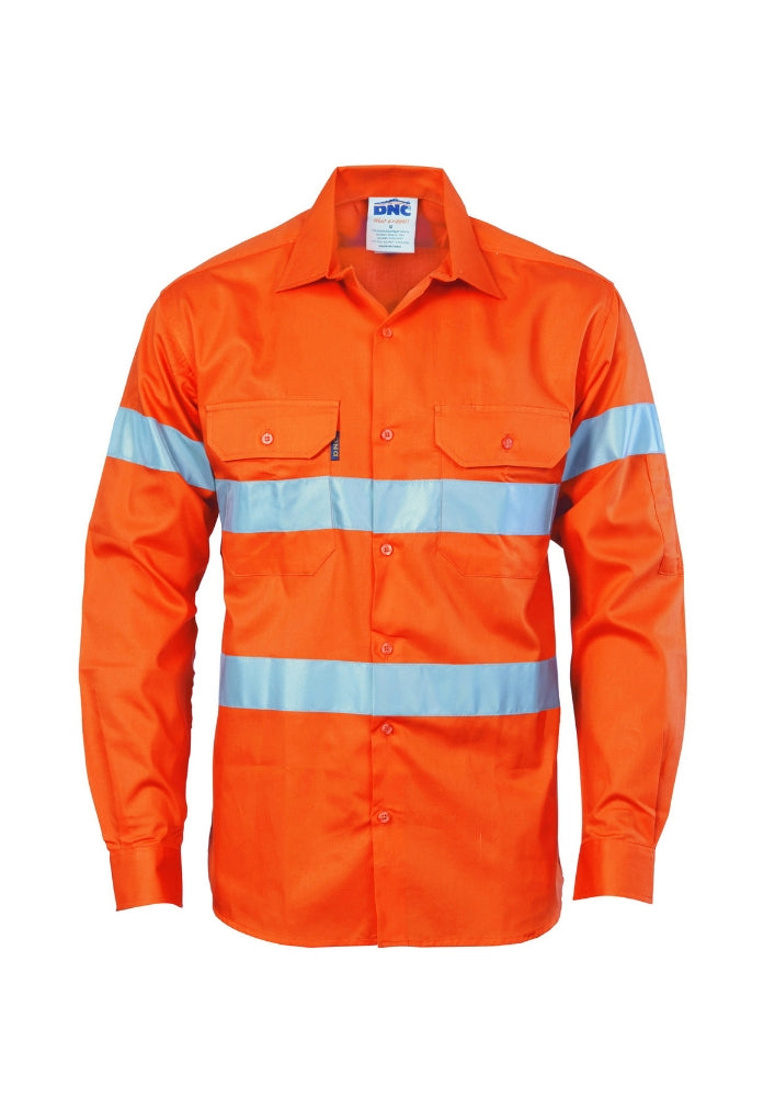 DNC Hi Vis (D&N) Drill Shirt - Workwear Warehouse