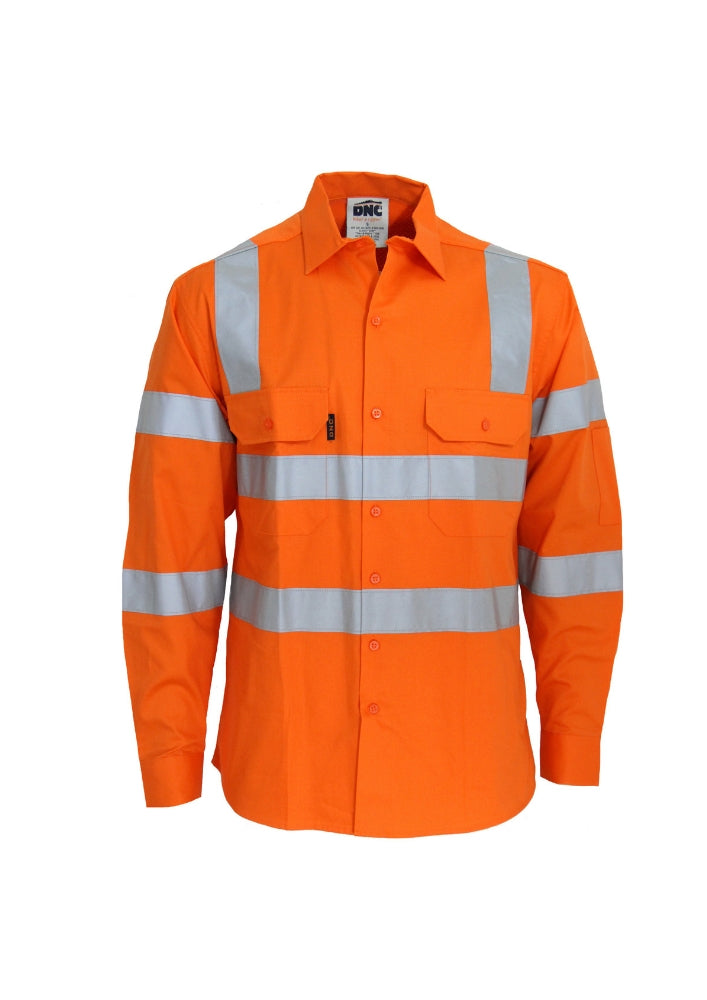 DNC Hi Vis 3 Way Cool Breeze VIC Rail Shirt - Workwear Warehouse