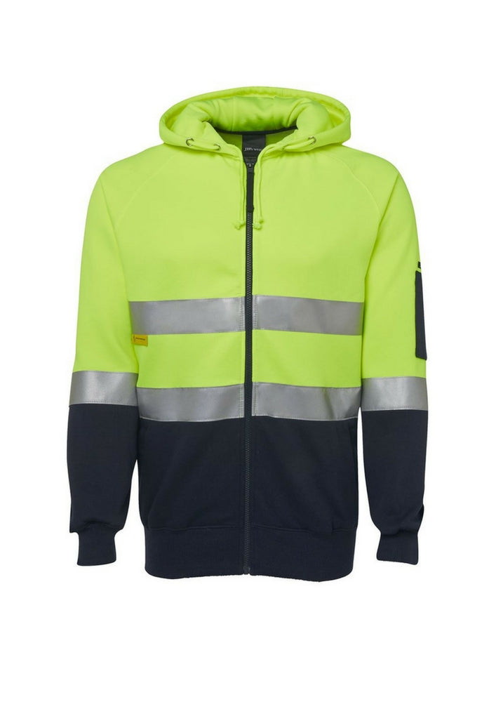 JB'S Hi Vis (D&N) Full Zip Fleecy Hoodie - Workwear Warehouse