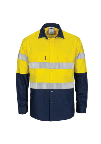 DNC Hi Vis (D&N) L/W T2 Vertical Vented Shirt with Gusset Sleeves