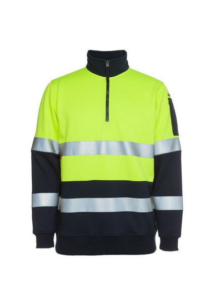 JBs Hi Vis 1/2 Zip (D&N) Fleecy Sweat