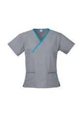 Biz Ladies Contrast Crossover Scrub Top - Workwear Warehouse