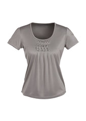 Biz Ladies Deco Pleat Knit Top - Workwear Warehouse
