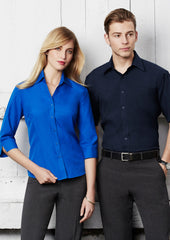 Biz Ladies Plain Oasis Shirt 3/4 Sleeve - Workwear Warehouse