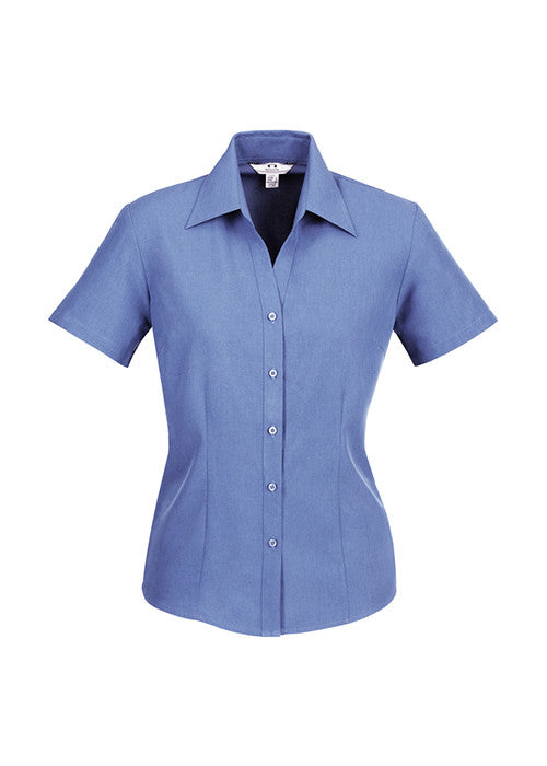 Biz Ladies Plain Oasis Shirt S/S Sleeve - Workwear Warehouse