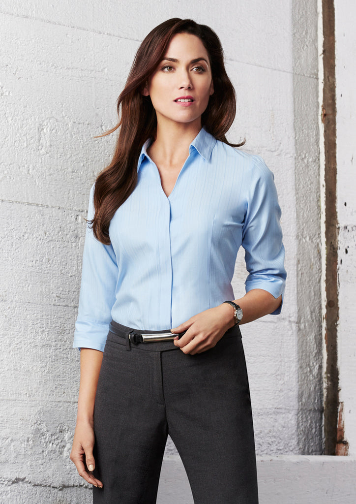 Biz Ladies Preston 3/4 Sleeve Shirt - Workwear Warehouse