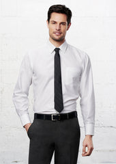 Biz Men's Preston Self Stripe L/S Shirt - Workwear Warehouse