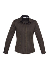 Biz Ladies Reno Stripe L/S Shirt - Workwear Warehouse
