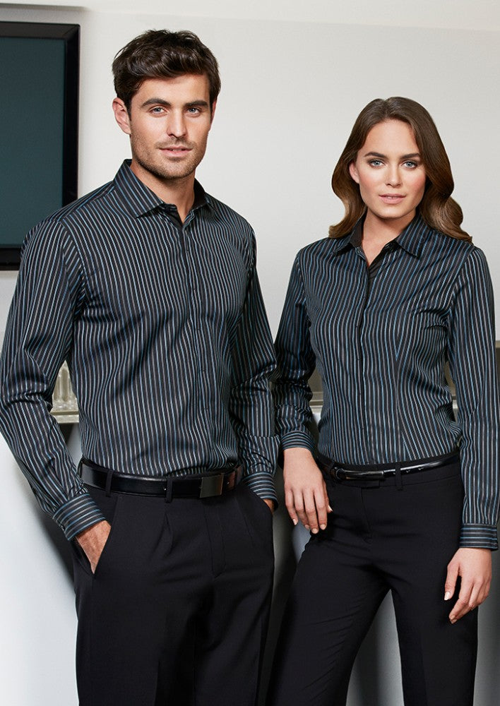 Biz Men's Reno Stripe Shirt - Workwear Warehouse